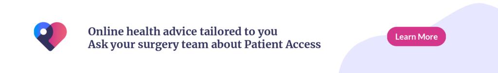 Patient access web banner